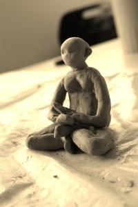méditation sépia